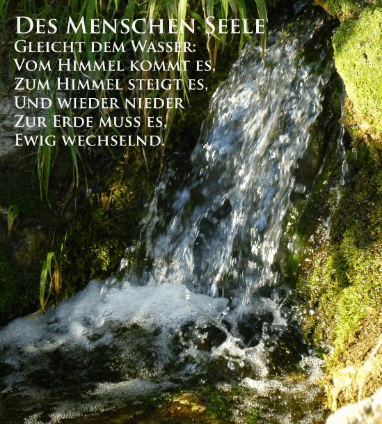Gesang der Geister über den Wassern,  JWG