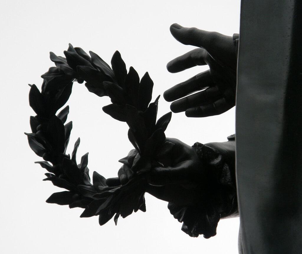 Goethe geburtstag, Lorbeer Kranz, Goethedenkmal, Weimar,Klassik